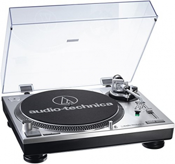 Audio Technica AT-LP120USBHC Plattenspieler mit Direktantrieb inkl. Tonabnehmer AT95E & Headshell AT-HS10 Farbe: Silber - 2