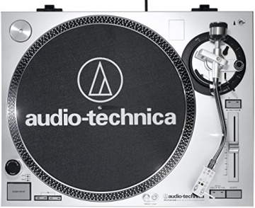 Audio Technica AT-LP120USBHC Plattenspieler mit Direktantrieb inkl. Tonabnehmer AT95E & Headshell AT-HS10 Farbe: Silber - 4