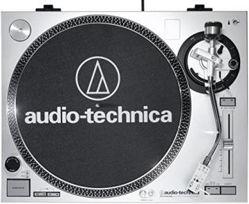 Audio Technica AT-LP120USBHC Plattenspieler mit Direktantrieb inkl. Tonabnehmer AT95E & Headshell AT-HS10 Farbe: Silber - 4