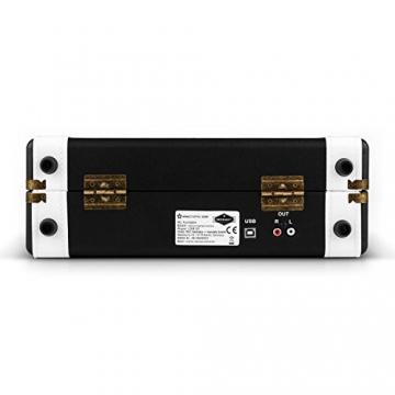 Auna Jerry Lee Retro Koffer Schallplattenspieler USB Plattenspieler zum digitalisieren ( mit Tragegriff, 2 Lautsprecher, Nostalgie-Design) schwarz-weiß - 4