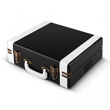 Auna Jerry Lee Retro Koffer Schallplattenspieler USB Plattenspieler zum digitalisieren ( mit Tragegriff, 2 Lautsprecher, Nostalgie-Design) schwarz-weiß - 5