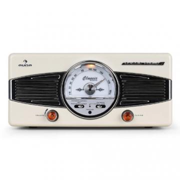 Auna MG-TT-82C Nostalgie Plattenspieler 50er Jahre Retro-Look Schallplattenspieler (UKW/MW-Radiotuner, integr. Lautsprecher, Riemenantrieb) creme - 3