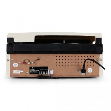 Auna MG-TT-82C Nostalgie Plattenspieler 50er Jahre Retro-Look Schallplattenspieler (UKW/MW-Radiotuner, integr. Lautsprecher, Riemenantrieb) creme - 4