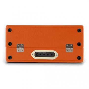 Auna Nostalgy Buckingham Kofferplattenspieler 50er Jahre Retro Schallplattenspieler im Koffer ( inkl. Tonabnehmersystem, 3 Geschwindigkeiten, Holz-Gehäuse mit Kunstleder-Bezug, AUX-IN, tragbar) orange - 7