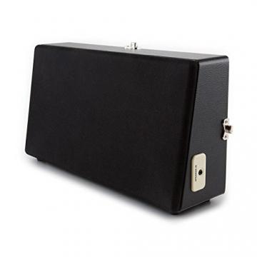 Auna Nostalgy Buckingham Tragbarer Retro-Schallplattenspieler Aktenkoffer Plattenspieler mit Lautsprecher (AUX-IN, inkl. Tonabnehmersystem, 3 Geschwindigkeiten, Holz-Koffer mit Kunstleder-Bezug) schwarz - 9