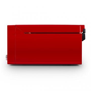 Auna RTT 1922 Retro-Stereoanlage Hifi Kompaktanlage im 50er 60er Jahre Vintage Look (MP3-fähiger CD-Player, USB, UKW-Radio, Plattenspieler, AUX, Fernbedienung, Aufnahmefunktion) rot - 3