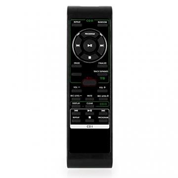 Auna Stereoanlage Kompakt Hifi Anlage mit Plattenspieler (Doppel-CD-Player mit Aufnahmefunktion, UKW-Radio, AUX, Kassette) schwarz - 8