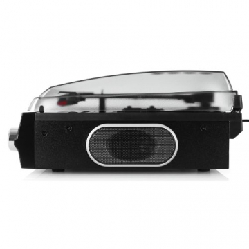 Auna TBA-298 Schallplattenspieler Automatik-Plattenspieler mit Lautsprecher (Riemenantrieb, 2 Geschwindigkeiten - 33 oder 45 U/min, Auto Start/Stopp Funktion, inkl. Tonabnehmer) schwarz - 4