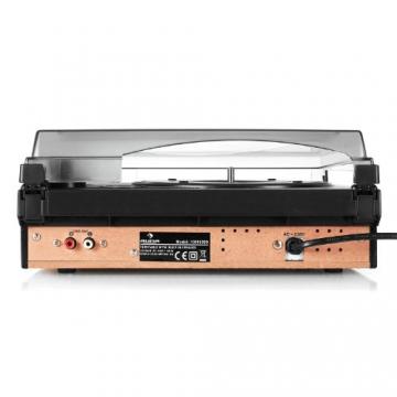 Auna TBA-298 Schallplattenspieler Automatik-Plattenspieler mit Lautsprecher (Riemenantrieb, 2 Geschwindigkeiten - 33 oder 45 U/min, Auto Start/Stopp Funktion, inkl. Tonabnehmer) schwarz - 5