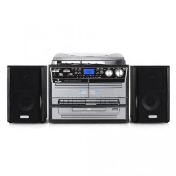 Auna TC-386WE  Stereoanlage (MP3/Kassette/CD Plattenspieler, USB) schwarz - 2