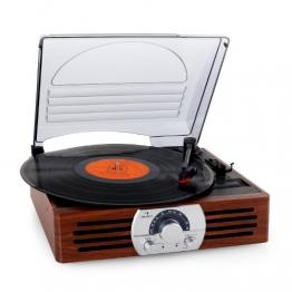 Auna TT-83N eleganter Holz-Schallplattenspieler | Vinyl Galore