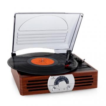 Auna TT-83N eleganter Holz-Schallplattenspieler   Vinyl Galore