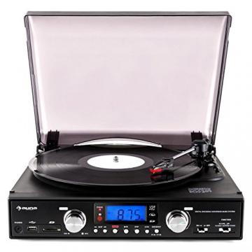 Auna TT 881 Plattenspieler MP3 USB SD UKW/MW Encoder schwarz - 2
