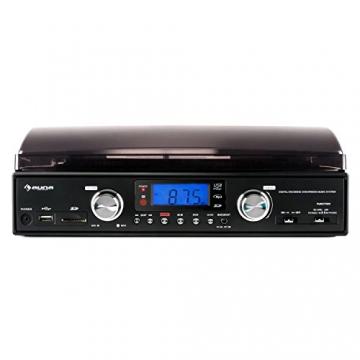 Auna TT 881 Plattenspieler MP3 USB SD UKW/MW Encoder schwarz - 3