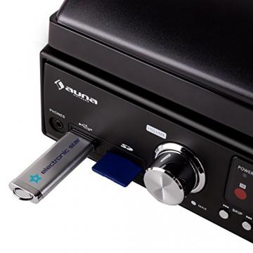 Auna TT 881 Plattenspieler MP3 USB SD UKW/MW Encoder schwarz - 6