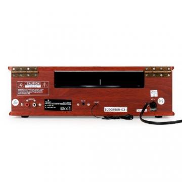 Auna TT-92B Retro Design Plattenspieler Holz Schallplattenspieler zum digitalisieren (USB-SD-Slot, AUX-IN, UKW-Radio, Holzfurnier) kirsche - 4