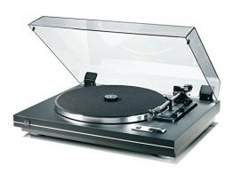 Dual CS 455-1 Vollautomatischer Plattenspieler (DC-Motor, Kardan-Tonarm, OMB 10 Magnet-Tonabnehmer) schwarz - 1