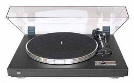 Dual CS 460 Design Schallplattenspieler Automatik Plattenspieler aus Holz (Strukturlack, Riemenantrieb, Magnet-Tonabnehmer, Sandwich-Plattenteller) schwarz - 1