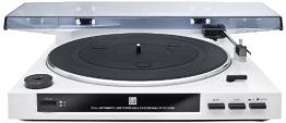 Dual DT 210 USB Schallplattenspieler mit Digitalisierungsfunktion (USB, Auto-Stop/Start-Funktion, Riemenantrieb, Magnet-Tonarmabnehmer-System) weiß - 1