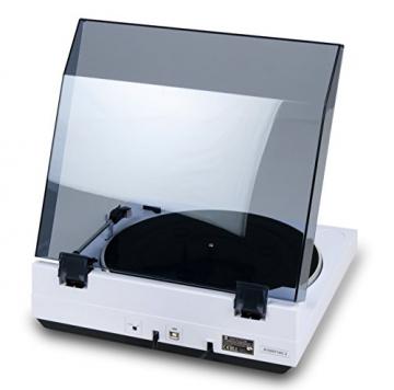 Dual DT 210 USB Schallplattenspieler mit Digitalisierungsfunktion (USB, Auto-Stop/Start-Funktion, Riemenantrieb, Magnet-Tonarmabnehmer-System) weiß - 4