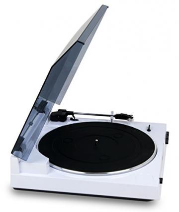 Dual DT 210 USB Schallplattenspieler mit Digitalisierungsfunktion (USB, Auto-Stop/Start-Funktion, Riemenantrieb, Magnet-Tonarmabnehmer-System) weiß - 5