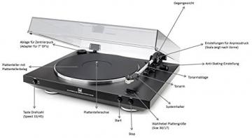 Dual DT 400 USB Vollautomatik Plattenspieler (33/45 U/min, Magnet-Tonabnehmer-System, USB-Anschluss, Entzerrer-Vorverstärker) schwarz - 4