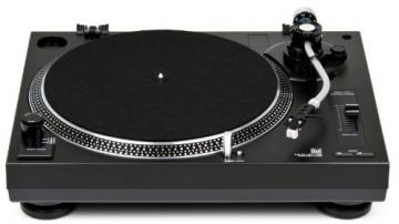 Dual DTJ 301.1 USB DJ-Plattenspieler (33/45 U/min, Pitch-Control, Magnet-Tonabnehmer-System, Nadelbeleuchtung, USB Kabel) schwarz - 2