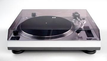 Dual DTJ 301 USB DJ-Plattenspieler (33/45 U/min, Pitch-Control, Magnet-Tonabnehmer-System, Nadelbeleuchtung, USB) silber - 2