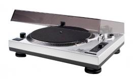 Dual DTJ 301 USB DJ-Plattenspieler (33/45 U/min, Pitch-Control, Magnet-Tonabnehmer-System, Nadelbeleuchtung, USB) silber - 1