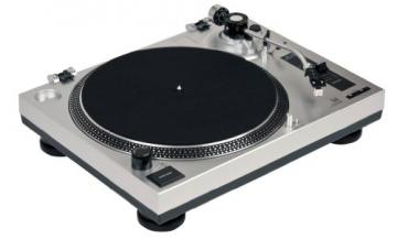 Dual DTJ 301 USB DJ-Plattenspieler (33/45 U/min, Pitch-Control, Magnet-Tonabnehmer-System, Nadelbeleuchtung, USB) silber - 4