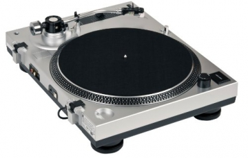 Dual DTJ 301 USB DJ-Plattenspieler (33/45 U/min, Pitch-Control, Magnet-Tonabnehmer-System, Nadelbeleuchtung, USB) silber - 5