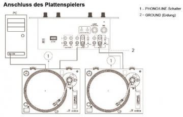 Dual DTJ 301 USB DJ-Plattenspieler (33/45 U/min, Pitch-Control, Magnet-Tonabnehmer-System, Nadelbeleuchtung, USB) silber - 10