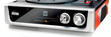 Dual DTR 50 Plattenspieler mit eingebauten Lautsprechern (Wurfantenne, 3,5mm Klinke, UKW-Tuner) silber - 2