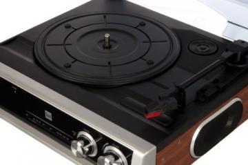 Dual DTR 50 Plattenspieler mit eingebauten Lautsprechern (Wurfantenne, 3,5mm Klinke, UKW-Tuner) silber - 5