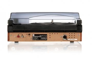 Dual DTR 50 Plattenspieler mit eingebauten Lautsprechern (Wurfantenne, 3,5mm Klinke, UKW-Tuner) silber - 6
