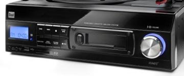 Dual DTTC 100 Schallplatten und Kassetten Player (Direct-Encoding, eingebaute Lautsprecher, Plattenspieler, Kassettendeck, USB, SD-Card, LCD-Display, AUX-IN) mit eingebauten Boxen schwarz - 2