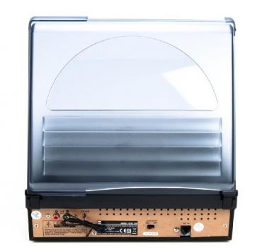 Dual DTTC 100 Schallplatten und Kassetten Player (Direct-Encoding, eingebaute Lautsprecher, Plattenspieler, Kassettendeck, USB, SD-Card, LCD-Display, AUX-IN) mit eingebauten Boxen schwarz - 7