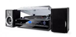 Dual NR 100 Stereo-Kompaktanlage mit Schallplattenspieler (PLL-UKW-Tuner, CD/MP3-Player, 30 Senderspeicherplätze, Direct-Encoding, 3,5mm Klinke, SD-Kartenslot) schwarz - 1