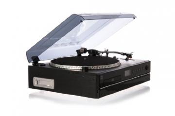 Dual NR 100 Stereo-Kompaktanlage mit Schallplattenspieler (PLL-UKW-Tuner, CD/MP3-Player, 30 Senderspeicherplätze, Direct-Encoding, 3,5mm Klinke, SD-Kartenslot) schwarz - 4