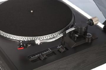 Dual NR 100 Stereo-Kompaktanlage mit Schallplattenspieler (PLL-UKW-Tuner, CD/MP3-Player, 30 Senderspeicherplätze, Direct-Encoding, 3,5mm Klinke, SD-Kartenslot) schwarz - 7
