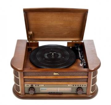 Dual NR 4 Nostalgie Musikanlage mit Plattenspieler (UKW-Tuner, MW-Radio, CD-RW, MP3, USB, Kassette, Aux-In) braun - 4