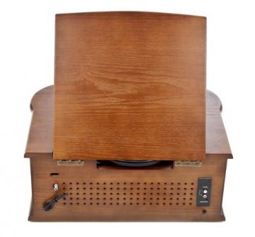 Dual NR 4 Nostalgie Musikanlage mit Plattenspieler (UKW-Tuner, MW-Radio, CD-RW, MP3, USB, Kassette, Aux-In) braun - 7