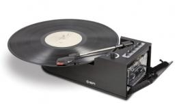 ION Audio Duo Deck USB-Plattenspieler und Tape Konverter schwarz - 1