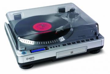 Ion Audio LP2CD   Vinyl Plattenspieler / Turntable und USB Digital Encoder mit eingebautem CD Brenner - inkl. Converter Software (MAC/PC) - 2