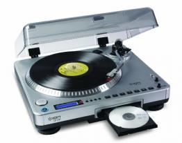 Ion Audio LP2CD | Vinyl Plattenspieler / Turntable und USB Digital Encoder mit eingebautem CD Brenner - inkl. Converter Software (MAC/PC) - 1