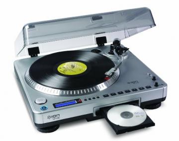 Ion Audio LP2CD   Vinyl Plattenspieler / Turntable und USB Digital Encoder mit eingebautem CD Brenner - inkl. Converter Software (MAC/PC) - 1