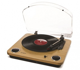 Ion Audio MAX LP | USB Digital Encoder Vinyl Plattenspieler / Turntable mit eingebauten Stereo Lautsprechern - inkl. Converter Software (MAC/PC) - 1