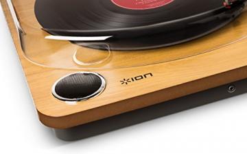 Ion Audio MAX LP | USB Digital Encoder Vinyl Plattenspieler / Turntable mit eingebauten Stereo Lautsprechern - inkl. Converter Software (MAC/PC) - 5