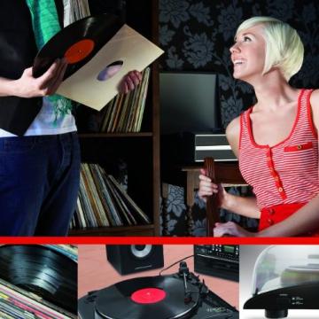 Ion Audio Profile LP   Vinyl Plattenspieler / Turntable und USB Digital Encoder - inkl. Converter Software (MAC/PC) - 2