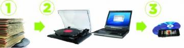 Ion Audio Profile LP   Vinyl Plattenspieler / Turntable und USB Digital Encoder - inkl. Converter Software (MAC/PC) - 3